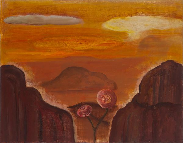 Desert Roses - oil on canvas, 11 x 14 inches, 2016