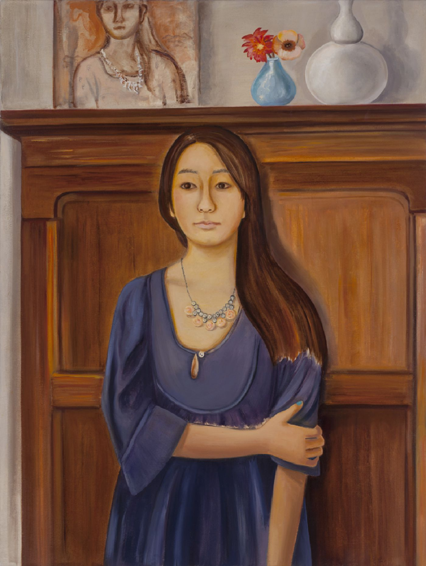 Isabel Then and Now - oil on canvas, 48  x 36 inches, 2014
