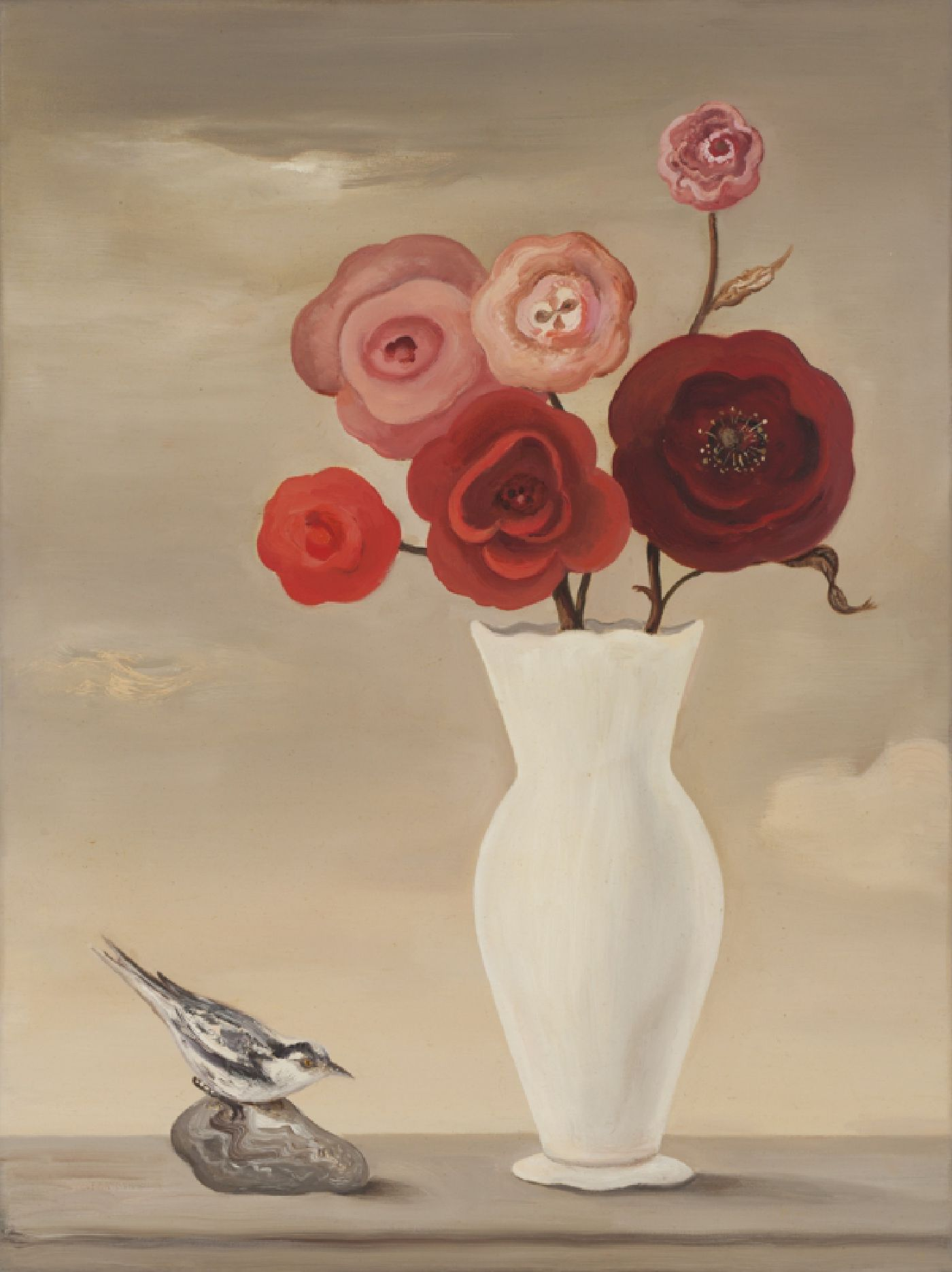 Still Life with Red Roses and Bird  24