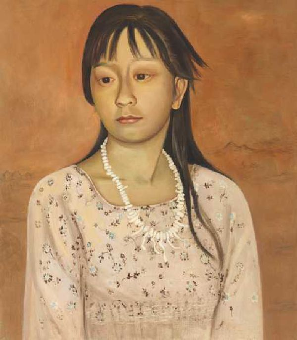 Young Girl with Shell Necklace by Jane Smaldone