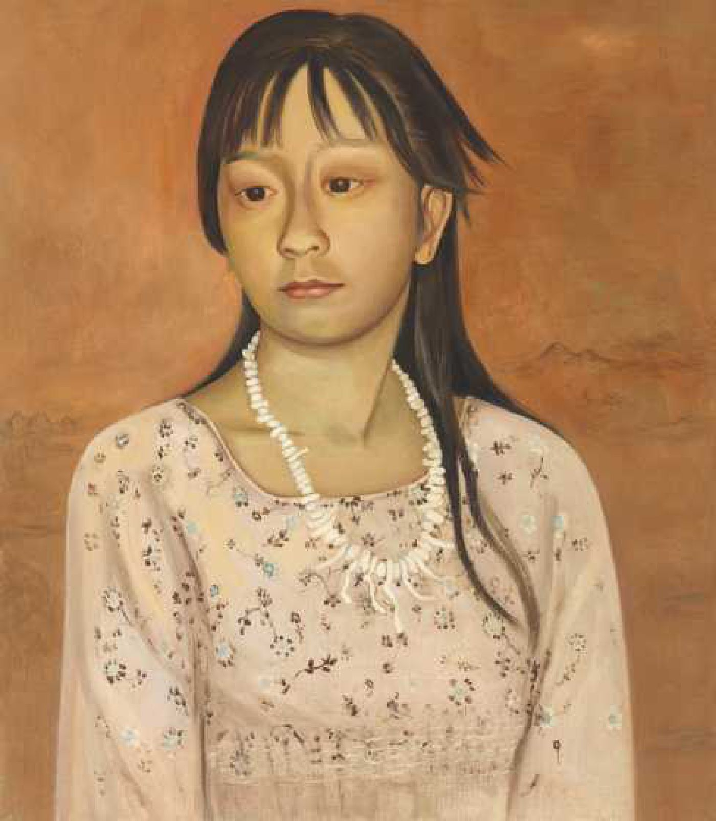 Young Girl with Shell Necklace - oil on linen,  23 x 20 inches, 2009-2010